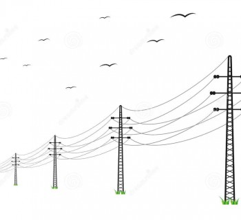 http://www.dreamstime.com/stock-image-high-voltage-power-lines-birds-white-background-image37117781